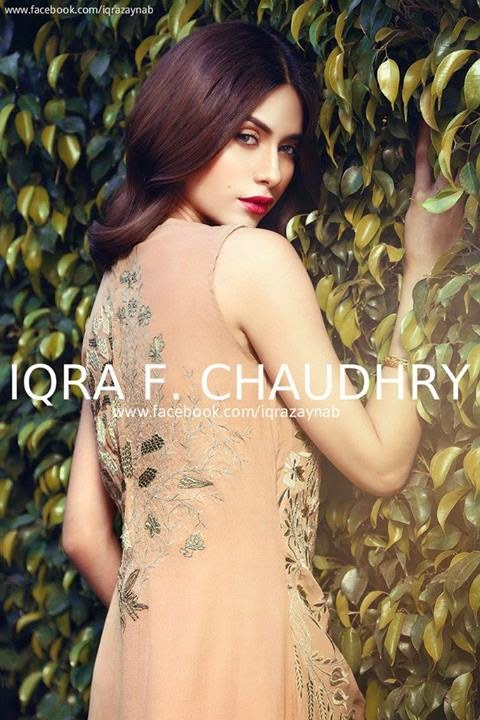 A Floral Odyssey Eid collection 2014 by Iqra F. Chaudhry