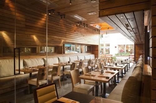 Modern restaurant with wood concept interiordesign
