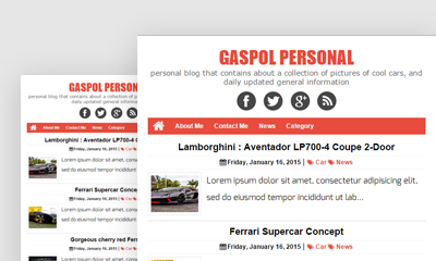 Gaspol Blogger Template