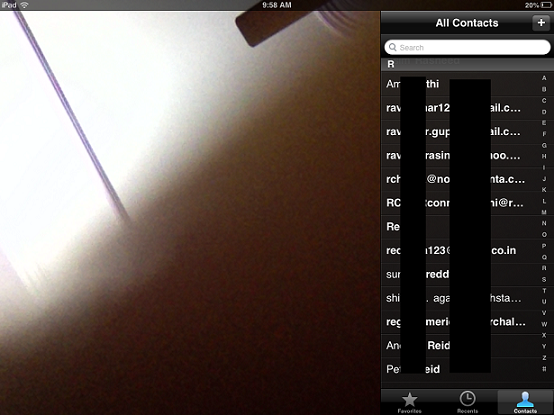 Facetime Screen on iPad