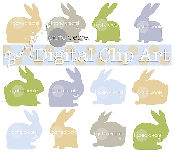 16 adorable #bunny #clipart files from I Gotta Create