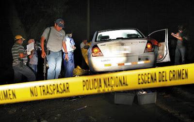 Honduras crime scene