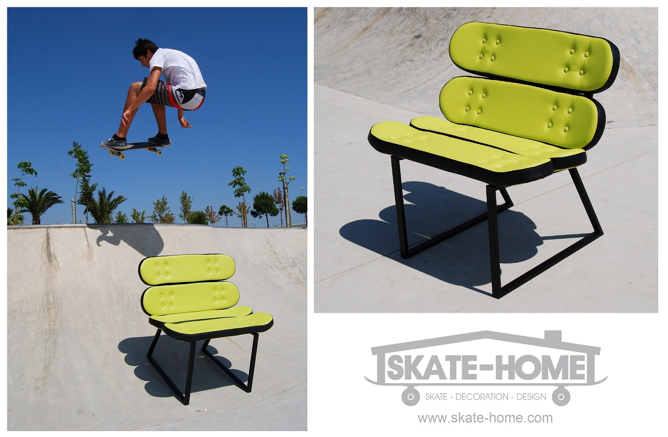 Top Pieces of Skateboard Furniture - skate chair. 1354 x 886 · 294 kB · jpeg