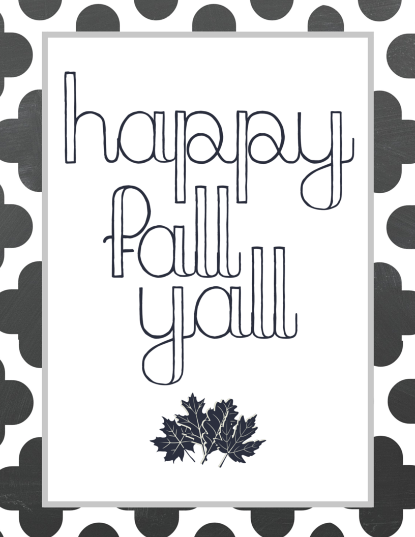 image relating to Happy Fall Y All Printable titled Free of charge Content Drop Yall Printable - The Well prepared Desire