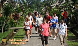 Walking in Main road of penglipuran village