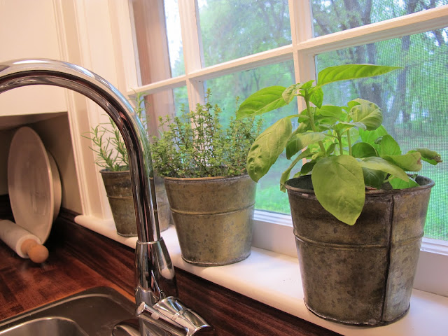 Jenny steffens hobick kitchen island diy kitchen island Kitchen windowsill herb pots