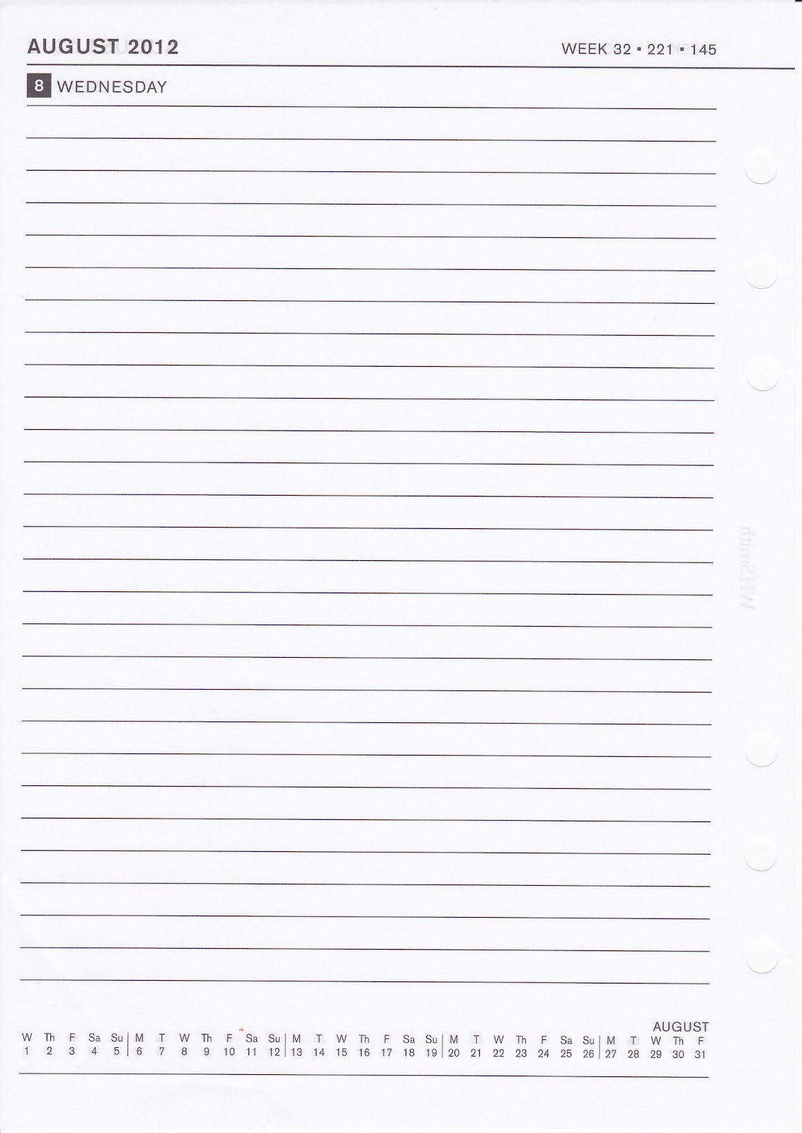 blank diary template blank 1ppd diary