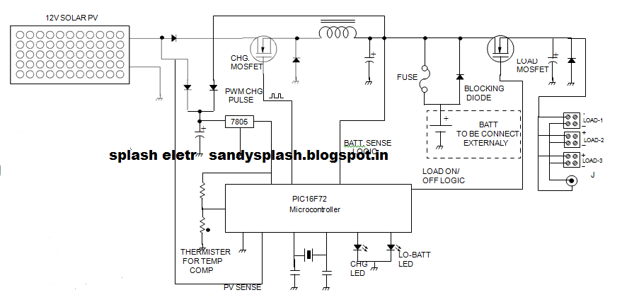 SPLASH ELECTR: PWM SOLAR CHARGE CONTROLLER CIRCUIT AND TECHNOLOGY ...