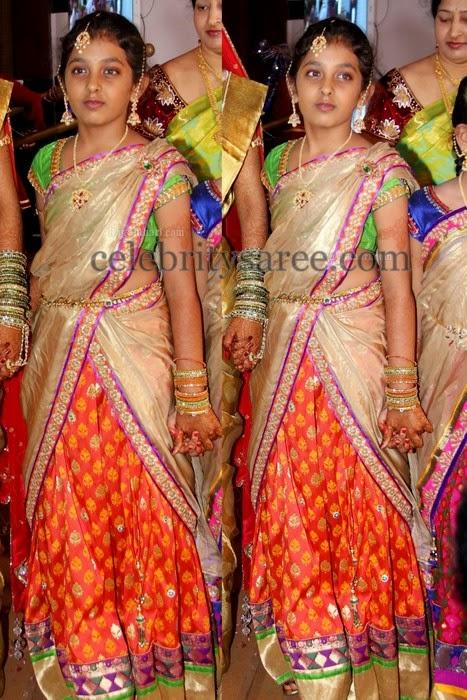 Girl in Benaras Uppada Half Sari