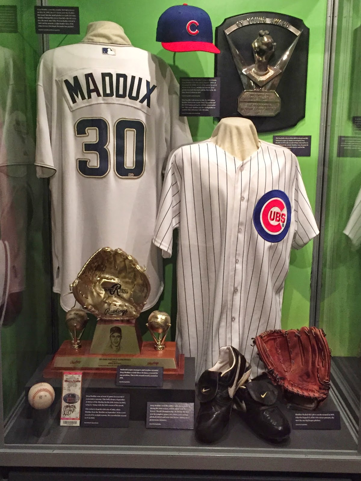Greg Maddux Hall of Fame Display