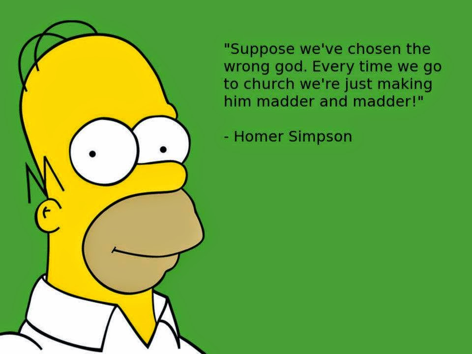 Funny Homer Simpson Making God Madder Quote Picture