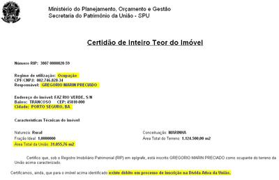 primo serra Gregório corrupção Marinha