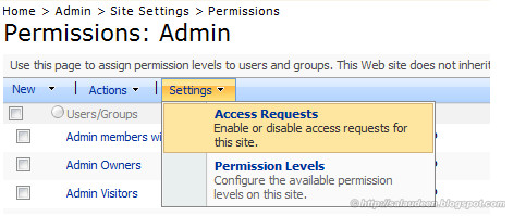 access request sharepoint email