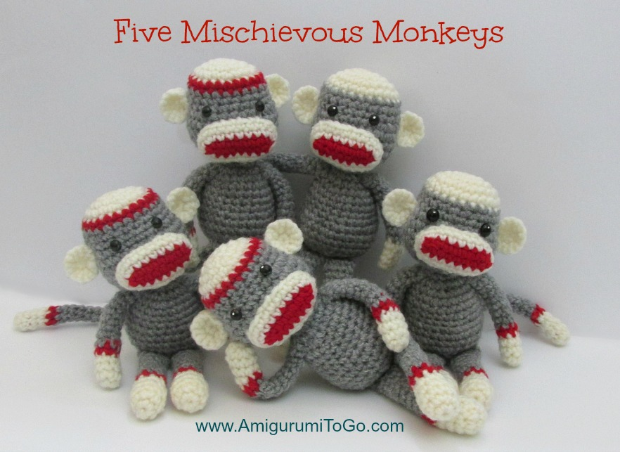 Free Crochet Pattern Sock Monkey Slippers : Crochet Along Amigurumi Sock Monkey ~ Amigurumi To Go