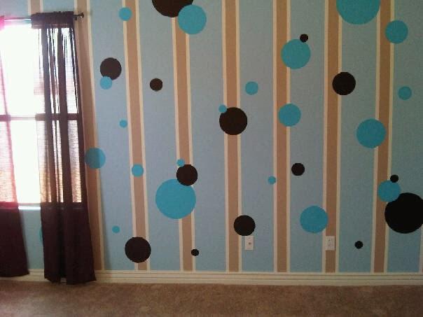 Decoraci n y afinidades paredes pintadas con figuras - Como pintar una pared ya pintada ...