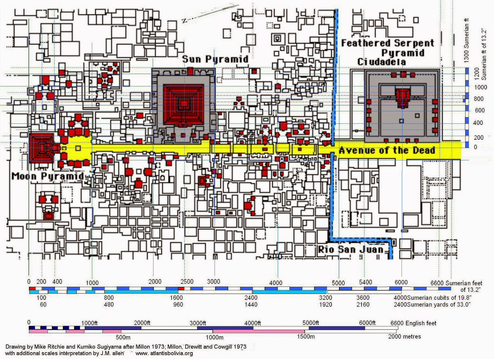 Pre Hispanic City Of Teotihuacan And Pyramid Of The Sun By