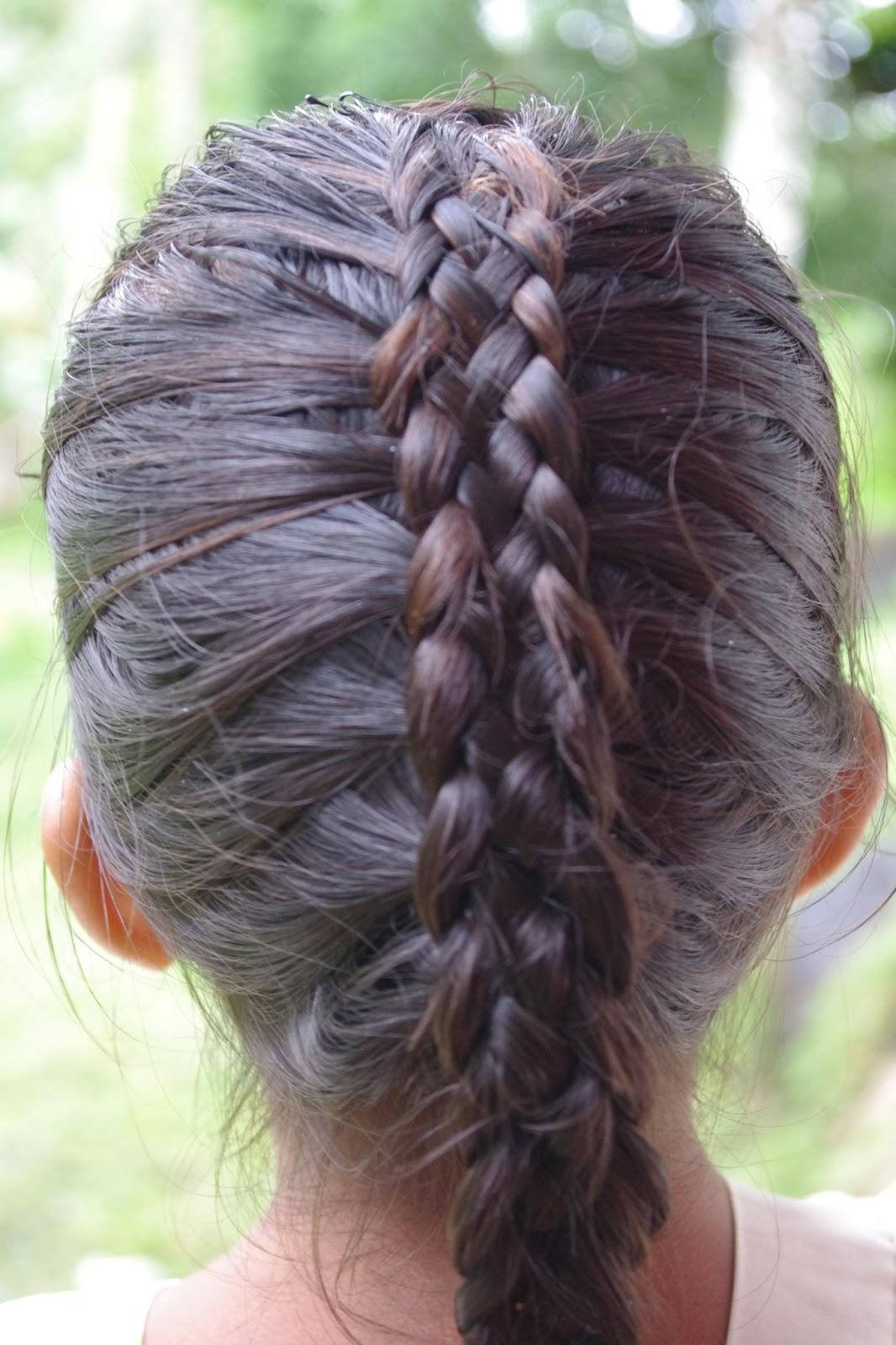 Micronesian Girl Two Cute Braided Hairstyles For Big Sister And