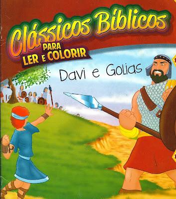 Davi e Golias - Atividade para ler e colorir