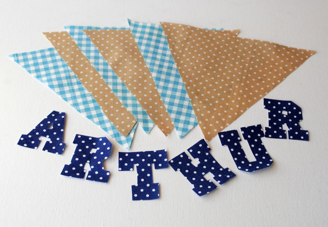 How To Make Fabric Letters For Bunting Home Safe