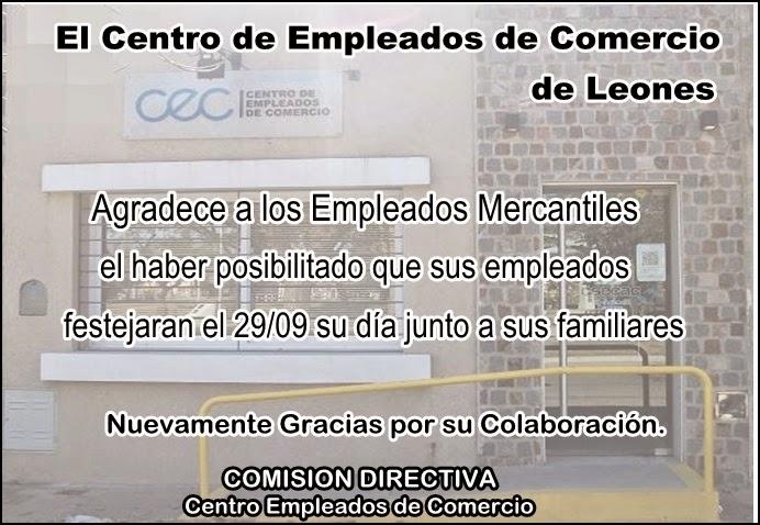 ESPACIO PUBLICITARIO: CENTRO EMPLEADOS DE COMERCIO