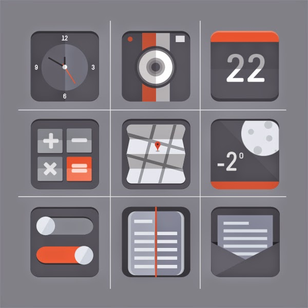 Free Flat Icon Set by Barry Mccalvey... free icon photography.. instagram, tumblr ... facebook twitter...