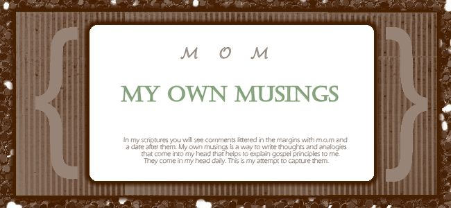 M.O.M                   My Own Musings