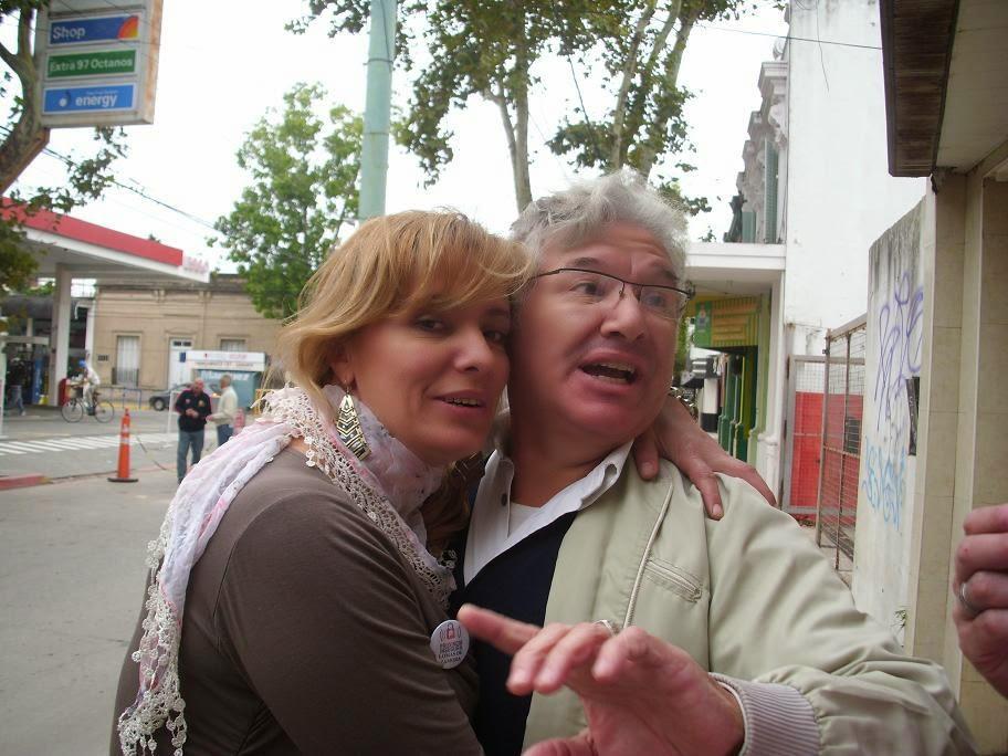 Con mi amiga Maria Carla Policihio de Prov. Insegura