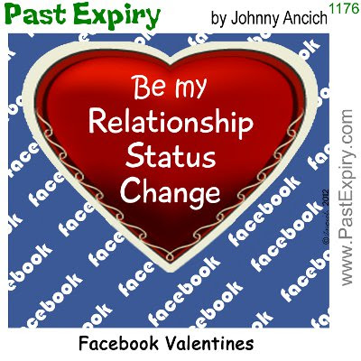 Cartoon about Valentines, relationships, cartoon, Facebook