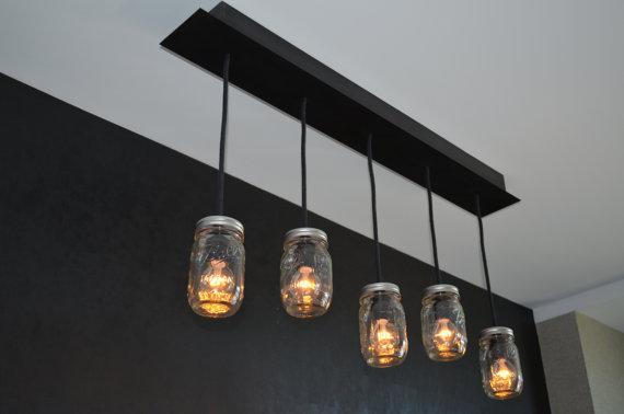 Detr s de mi puerta lamparas recicladas - Lamparas de techo hechas en casa ...
