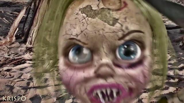 cara de una muñeca que da miedo y terror