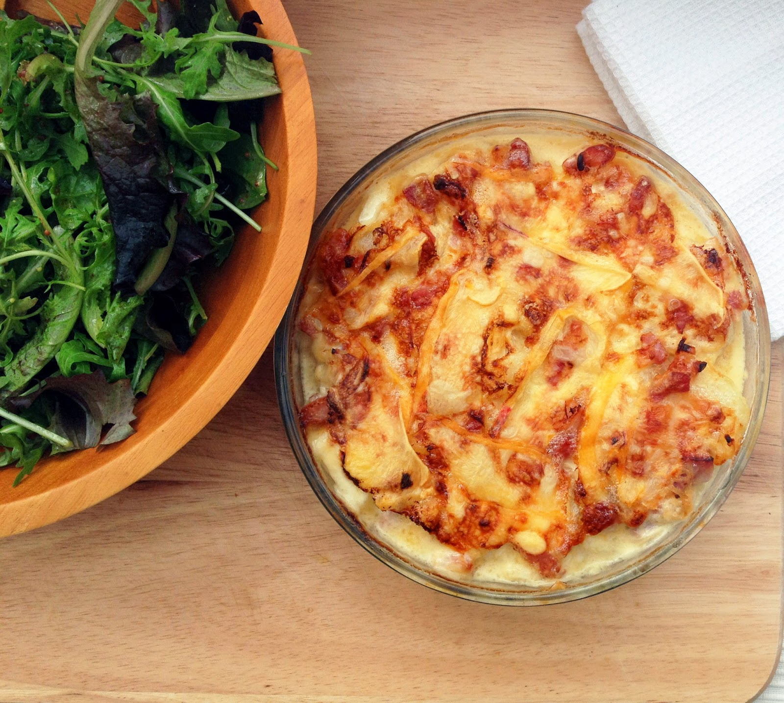 ... Crouton: Tartiflette - a gratin of potatoes, onions, bacon and cheese