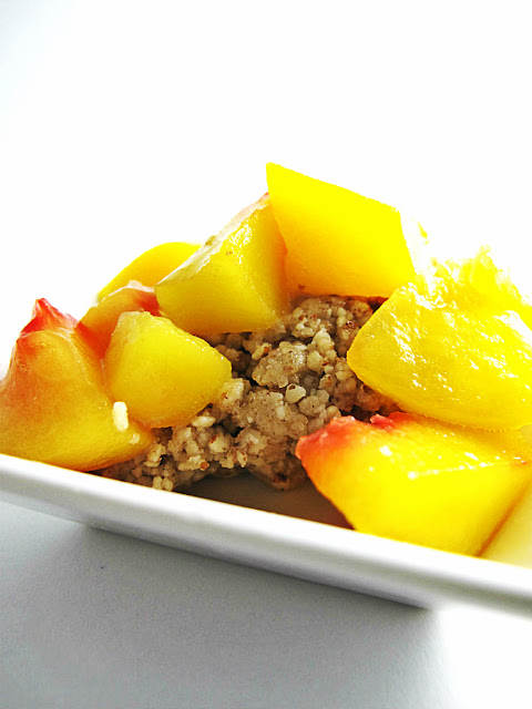 raw food recipe peach cobbler
