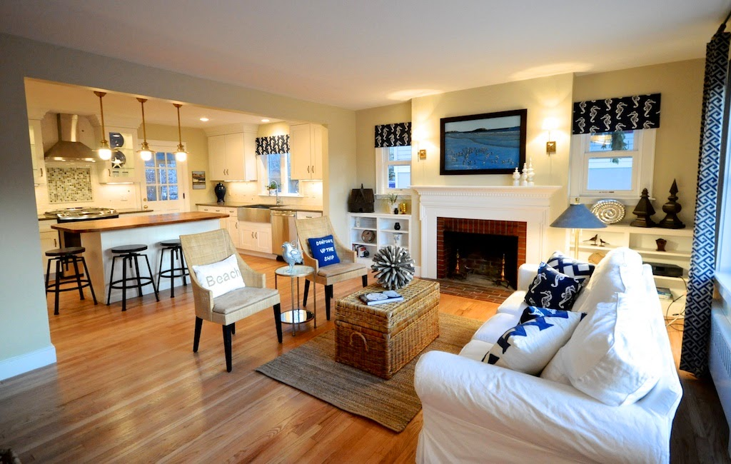 Sopo cottage the beach cottage reinventing a 1940 39 s for Open concept cape cod house plans