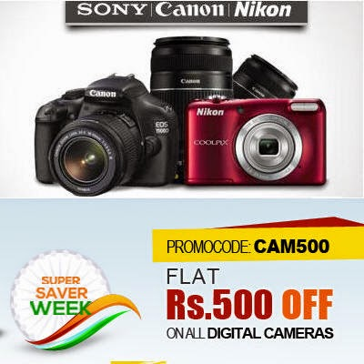 Flat 500 Off On Digital Cameras at Snapdeal