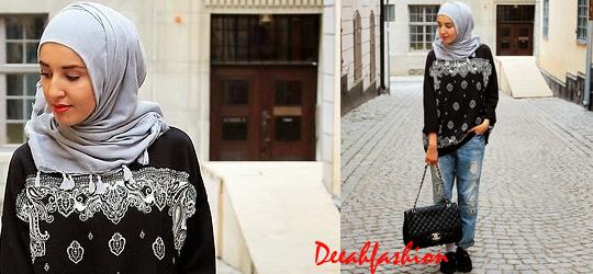 Trend OOTD (Preppy Hijab Street Style)