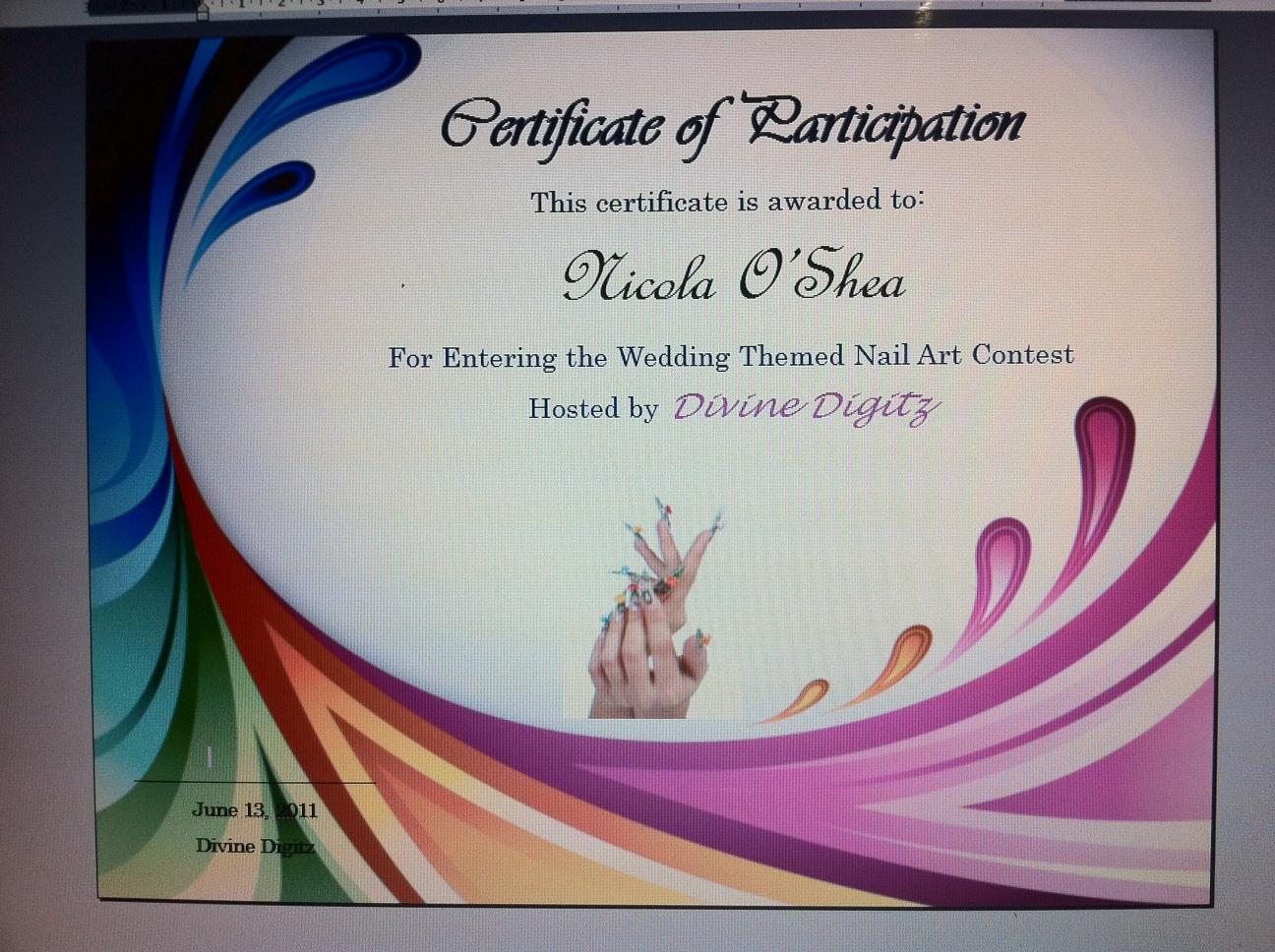 Divine Digitz: Some Classic Nail Art Designs & Certificate Example ...