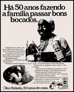 propaganda  óleo Salada - 1977; anos 70/ oswaldo hernandez;