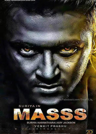 Poster Of Masss In Dual Audio Hindi Telugu 300MB Compressed Small Size Pc Movie Free Download Only At worldfree4u.com