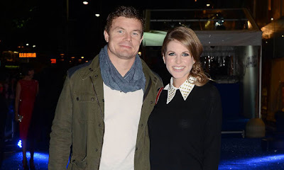Brian O'Driscoll and his wife, actress Amy Huberman