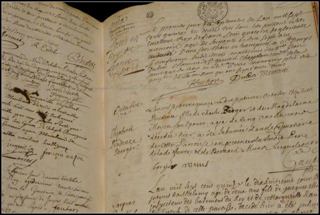 Acte décès Louis XIV death certificate
