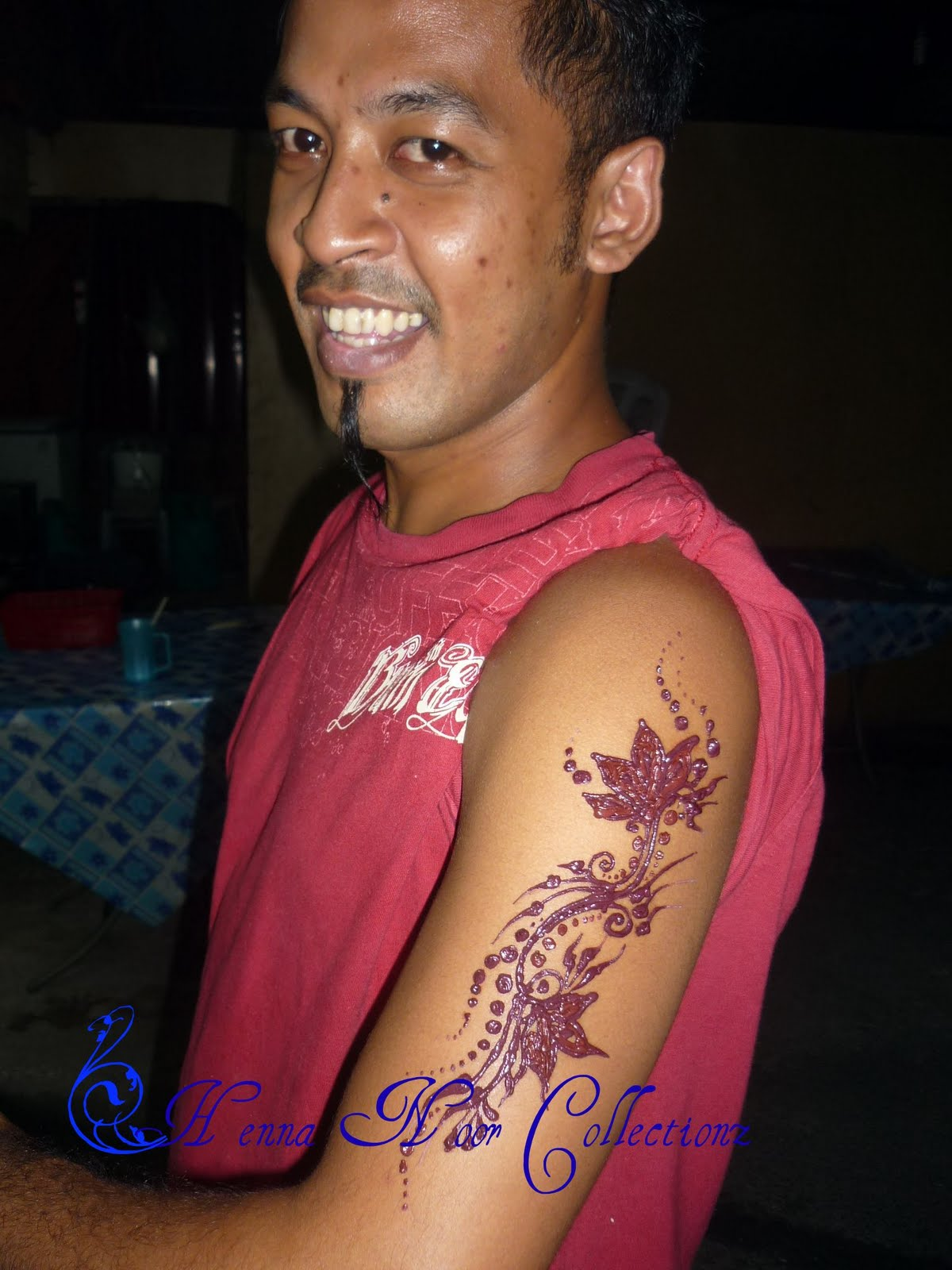 Henna Inai Ukiran Pengantin Men Arms Design