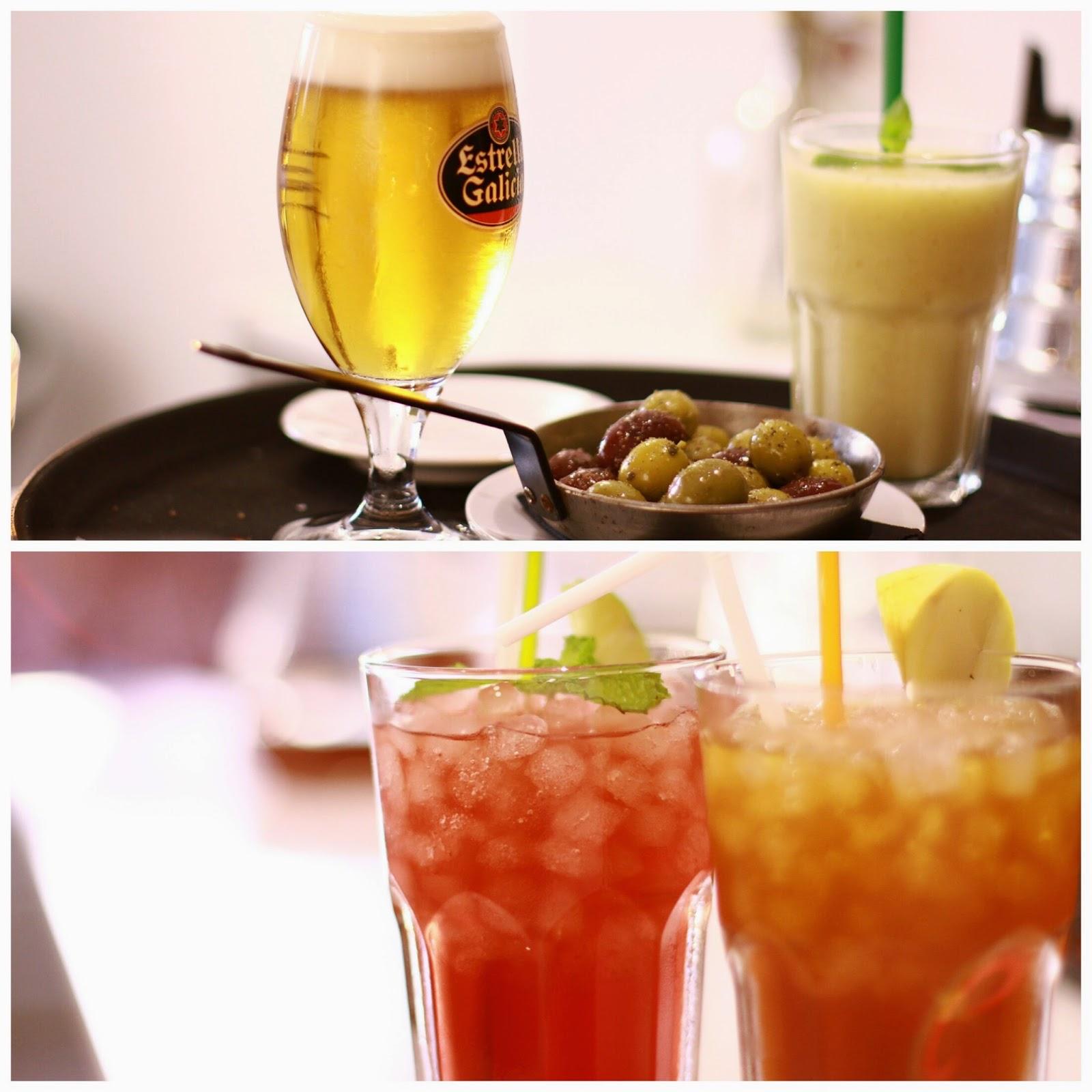 cerveza y cócteles en bar Urgazi