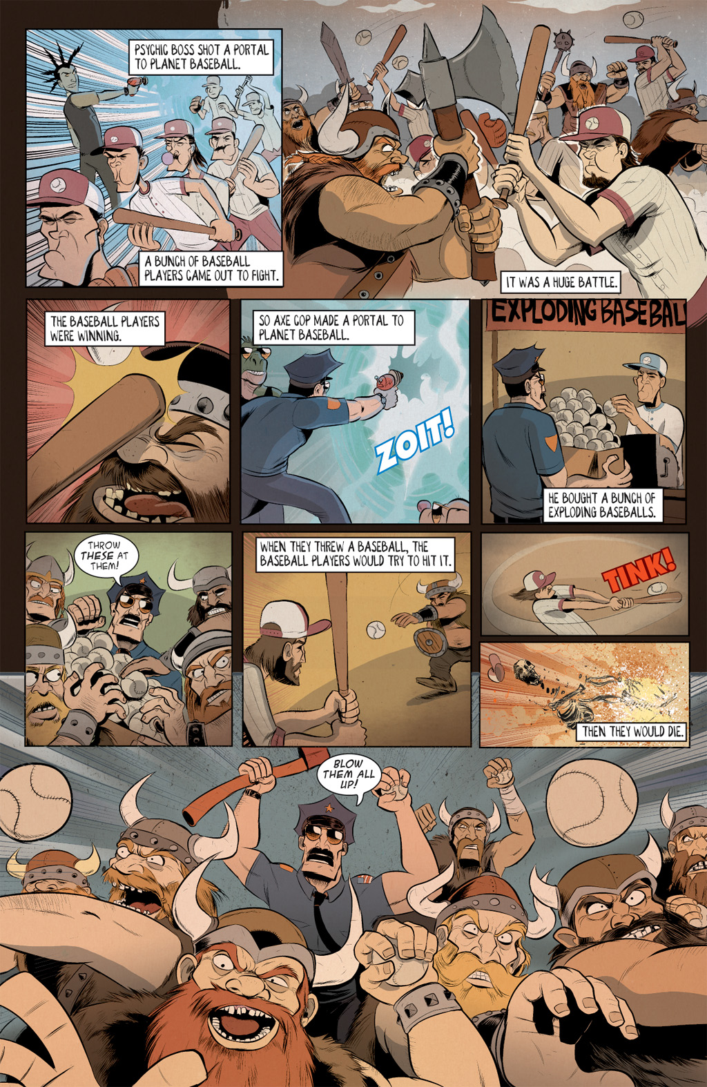 Read online Axe Cop: Bad Guy Earth comic -  Issue #2 - 10