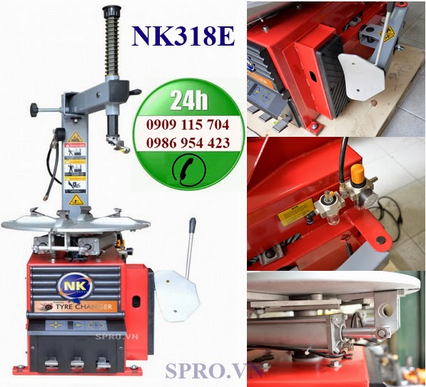 máy tháo vỏ ô tô và xe ga NK318E