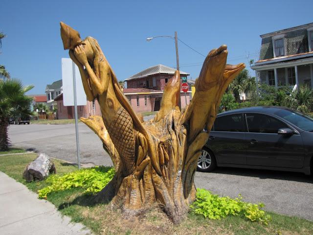 Juwster s world galveston texas tree sculptures