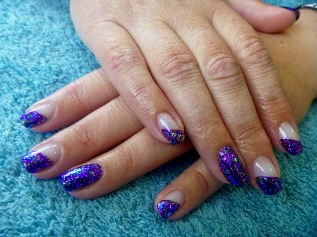 Acrylic extensions + LED polish manicure and feats-Acrylic extensions + LED polish French-Acrylic sculpts + LED polish French glitz and foil