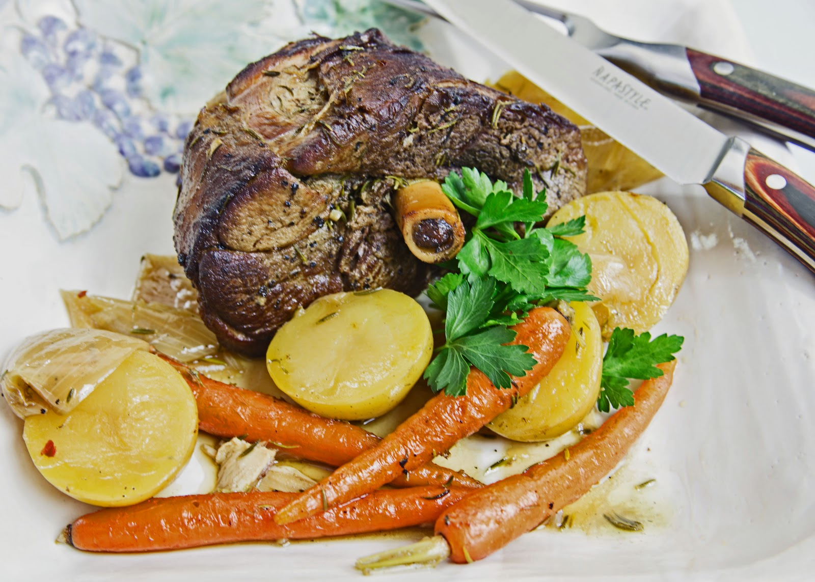Tom and Anita : Rosemary Braised Leg of Lamb