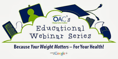 Webinar Title Graphic Larger Weight Loss Recipes Obesity Action Coalition FREE Educational Webinar Series