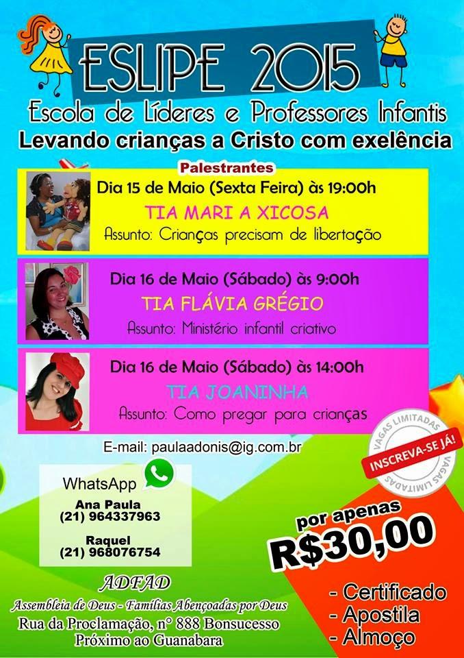 15 a 16 de maio em Bonsucesso no RJ.