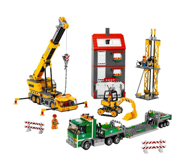 lego city construction site lego city construction site. Black Bedroom Furniture Sets. Home Design Ideas